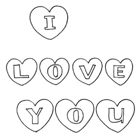I Love You Coloring Pages For Teenagers Printable 35