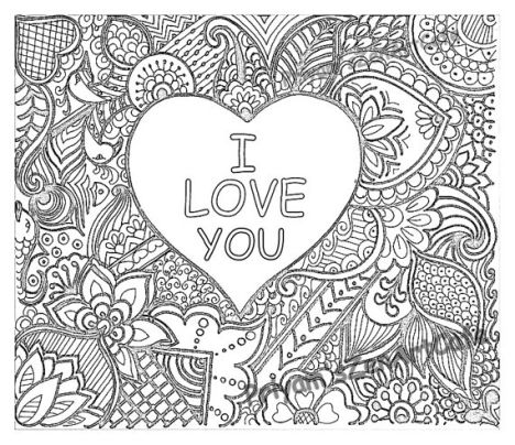 I Love You Coloring Pages For Teenagers Printable 36