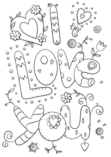 I Love You Coloring Pages For Teenagers Printable 37