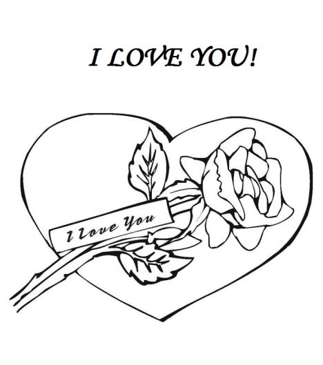 I Love You Coloring Pages For Teenagers Printable 39