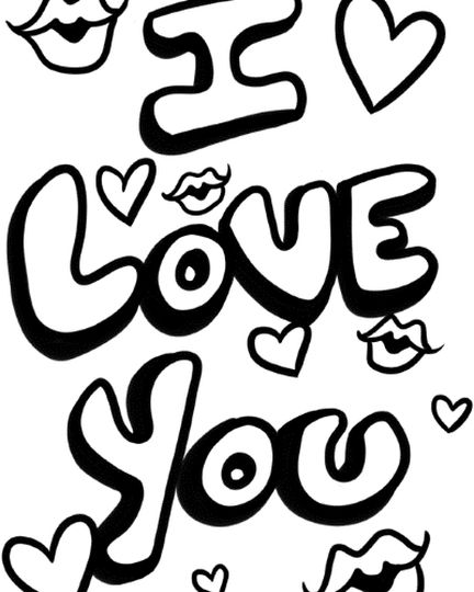 I Love You Printable Pages Coloring
