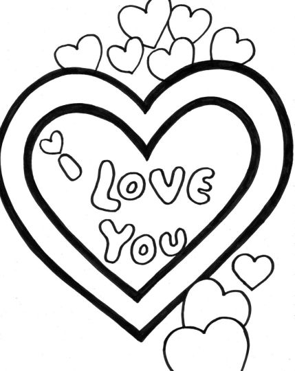 I Love You Coloring Pages For Teenagers Printable 40