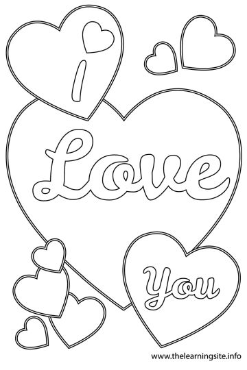 I Love You Coloring Pages For Teenagers Printable 6