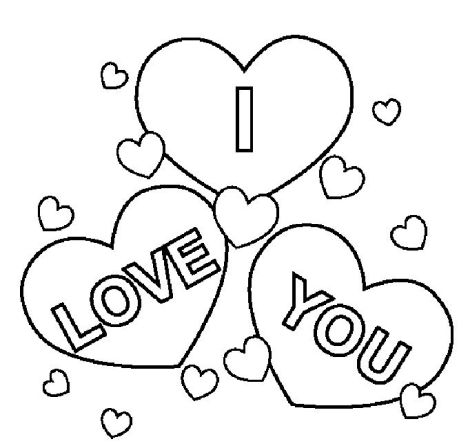 Playful image pertaining to i love you coloring pages printable