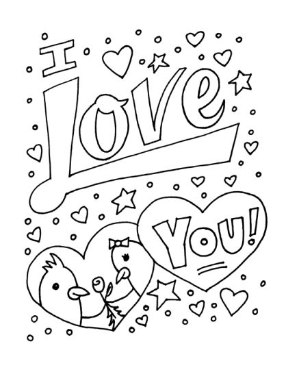 I Love You Coloring Pages For Teenagers Printable 8