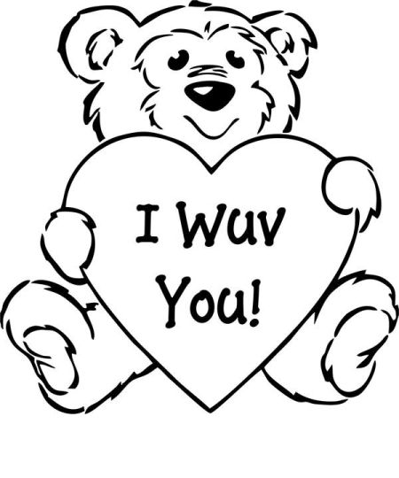 I Love You Coloring Pages For Teenagers Printable 9