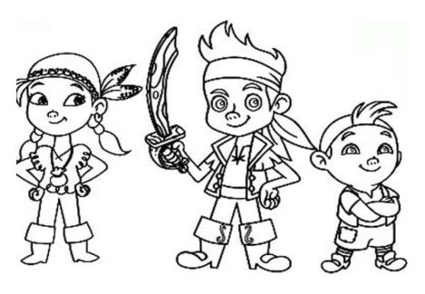 Jake and the neverland pirates coloring pages part 2 for Jake and the pirates coloring pages