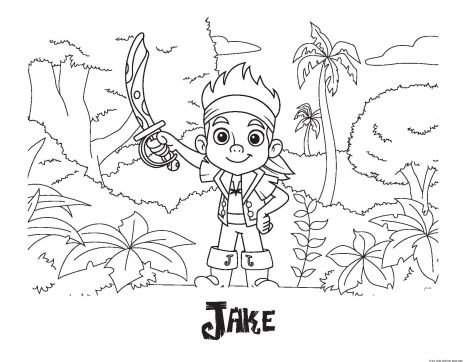 Jake And The Neverland Pirates Coloring Pages 13