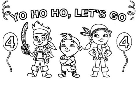 Jake coloring page murderthestout for Jake neverland pirates coloring pages