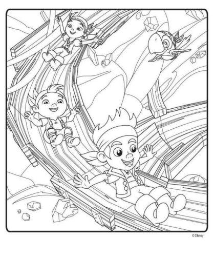 Jake And The Neverland Pirates Coloring Pages 28