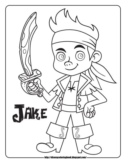 Jake And The Neverland Pirates Coloring Pages 3