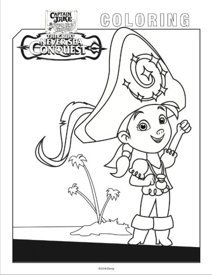 Jake And The Neverland Pirates Coloring Pages 35