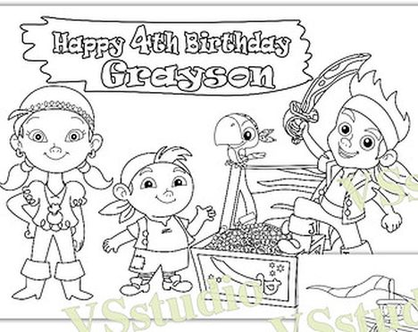 Jake And The Neverland Pirates Coloring Pages 36