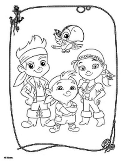 Jake and the neverland pirates coloring pages part 1 for Jake the pirate coloring pages