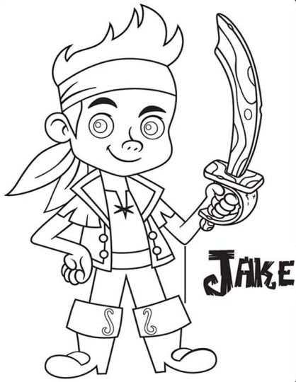 Jake And The Neverland Pirates Coloring Pages 47