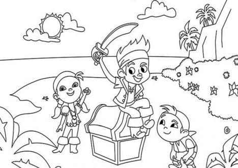 Jake And The Neverland Pirates Coloring Pages 51