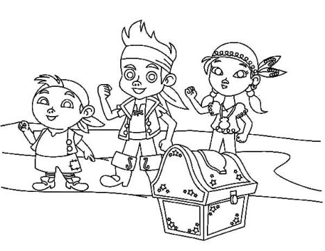 Jake And The Neverland Pirates Coloring Pages 54