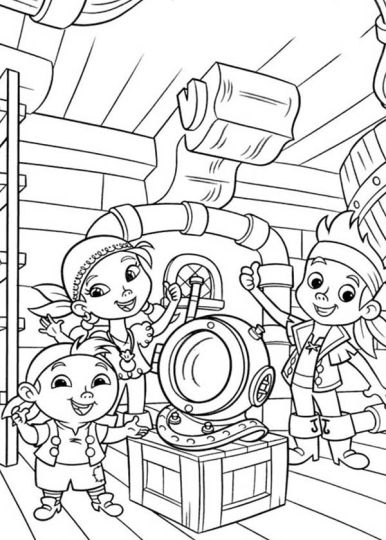 Jake And The Neverland Pirates Coloring Pages 55