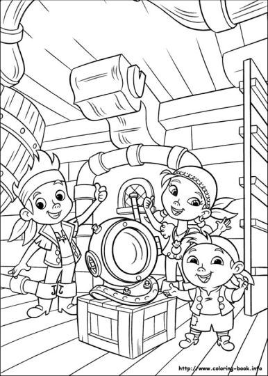 Jake And The Neverland Pirates Coloring Pages 7