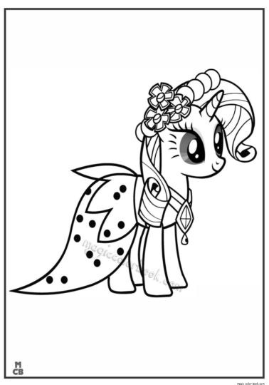 My Little Pony Coloring Pages Princess Celestia 11