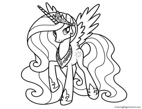 My Little Pony Coloring Pages Princess Celestia 13