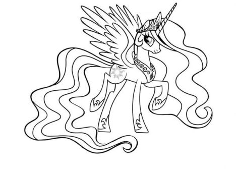 My Little Pony Coloring Pages Princess Celestia 14