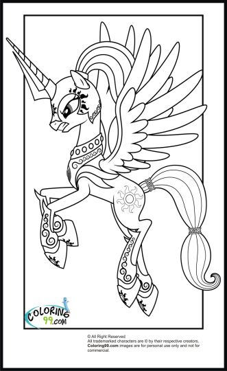 My Little Pony Coloring Pages Princess Celestia 15