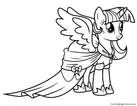 My Little Pony Coloring Pages Princess Celestia 17