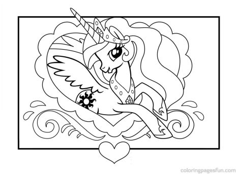 My Little Pony Coloring Pages Princess Celestia 2