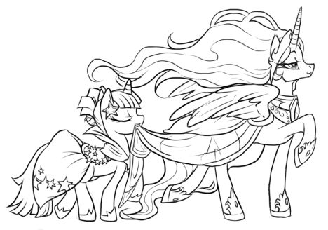 My Little Pony Coloring Pages Princess Celestia 21