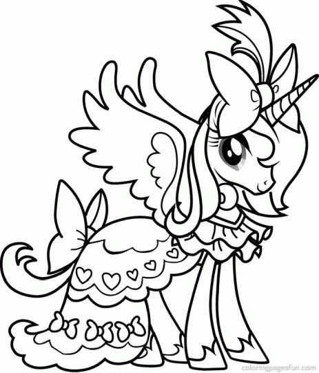 My Little Pony Coloring Pages Princess Celestia 25