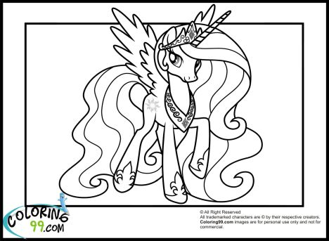 My Little Pony Coloring Pages Princess Celestia 27