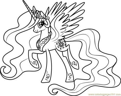 My Little Pony Coloring Pages Princess Celestia 29