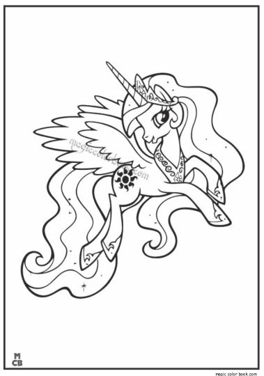 My Little Pony Coloring Pages Princess Celestia 3