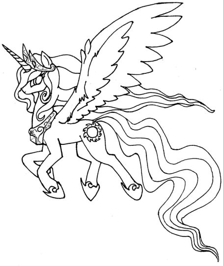 My Little Pony Coloring Pages Princess Celestia 30