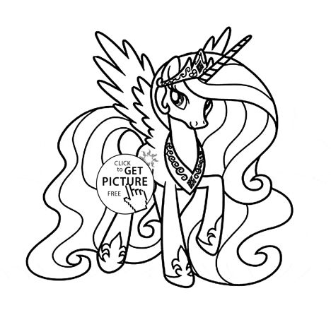 My Little Pony Coloring Pages Princess Celestia Part 4