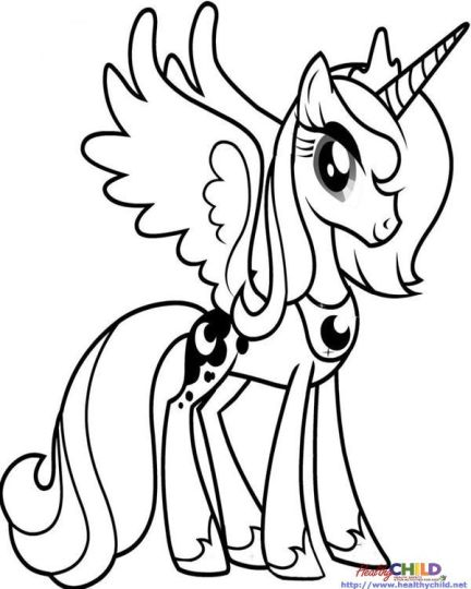 My Little Pony Coloring Pages Princess Celestia 35