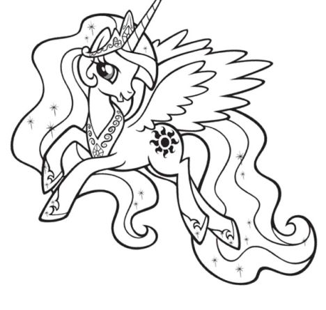 My Little Pony Coloring Pages Princess Celestia 39
