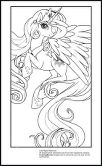 My Little Pony Coloring Pages Princess Celestia 44