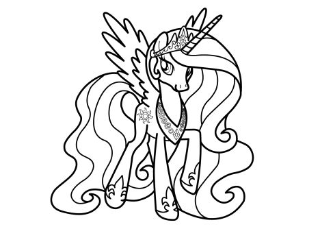 My Little Pony Coloring Pages Princess Celestia 45