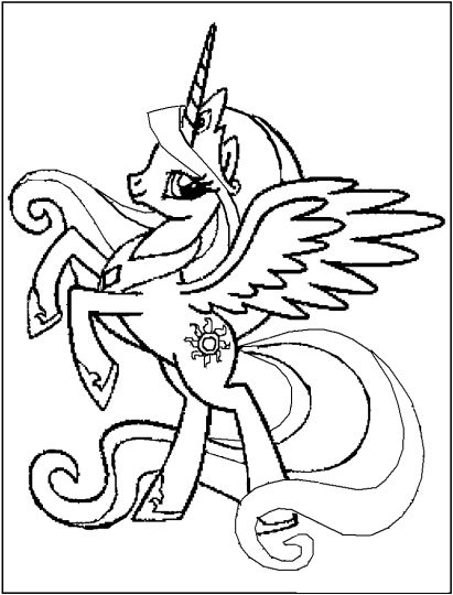 My Little Pony Coloring Pages Princess Celestia 46