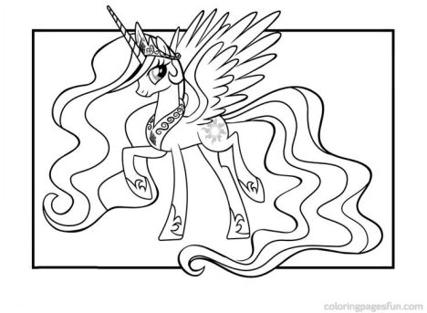 My Little Pony Coloring Pages Princess Celestia 49