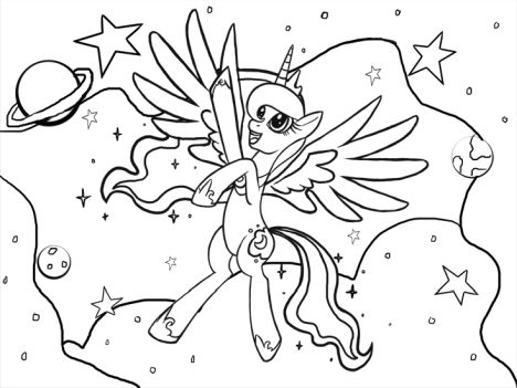 My Little Pony Coloring Pages Princess Celestia 5