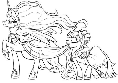 My Little Pony Coloring Pages Princess Celestia 53