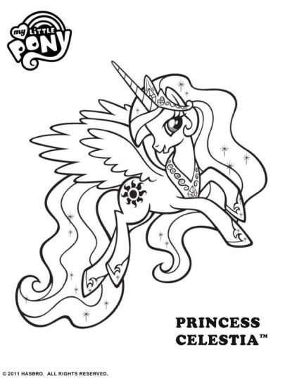 84 My Little Pony Coloring Pages Princess Celestia And