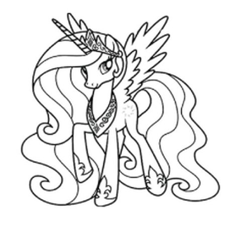 My Little Pony Coloring Pages Princess Celestia 63
