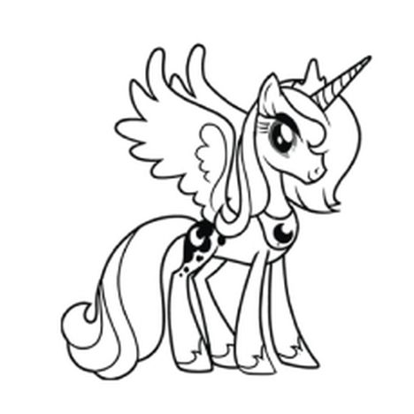 My Little Pony Coloring Pages Princess Celestia 64