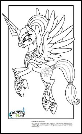My Little Pony Coloring Pages Princess Celestia 66