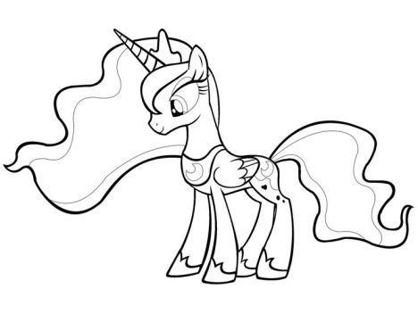 My Little Pony Coloring Pages Princess Celestia Part 8