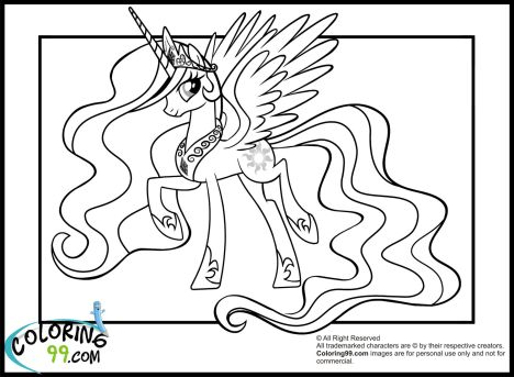 My Little Pony Coloring Pages Princess Celestia 77